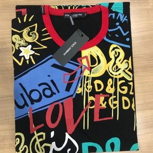 Dolce&Gabbana Cotton Colored Printed T-Shirt